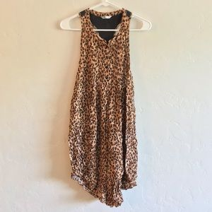 Volcom Leopard Print Racerback Mini Dress Small